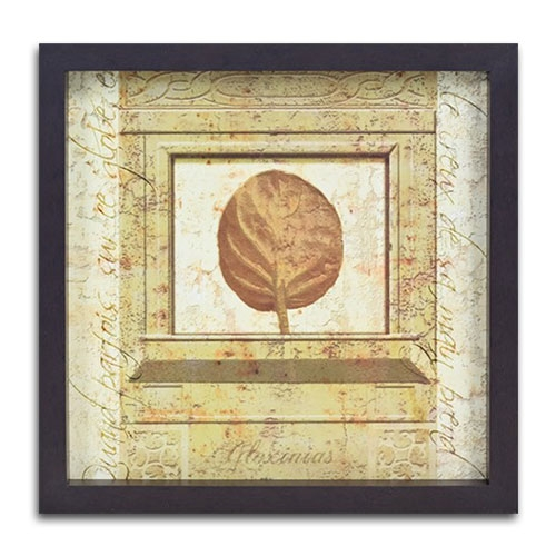 Quadro Decorativo Floxinias em Madeira - 37x37 cm