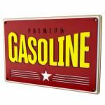 Quadro Decorativo Gasolina Premium Vermelho em MDF