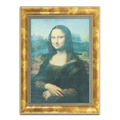 Quadro Decorativo Gioconda em Madeira - 88x65 cm