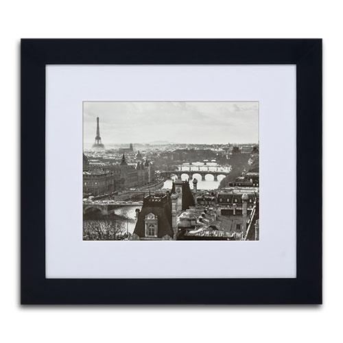 Quadro Decorativo Gravura de Paris em Madeira - 83x73 cm