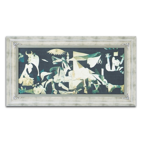 Quadro Decorativo Guernica em Madeira - 126x68 cm