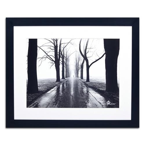 Quadro Decorativo Horizonte Entre as Árvores em Madeira - 113x93 cm