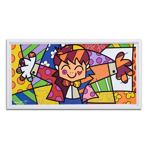 Quadro Decorativo Hug Too em Madeira - 54x30 cm