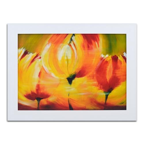 Quadro Decorativo Jardim - Abstract - em Madeira - 117x87 cm