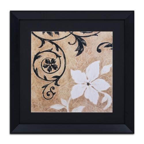 Quadro Decorativo Jardim Preto e Branco II em Madeira - 73x73 cm