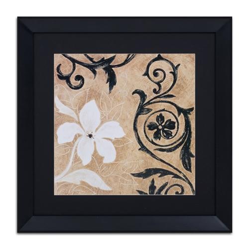 Quadro Decorativo Jardim Preto e Branco em Madeira - 73x73 cm