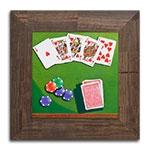 Quadro Decorativo Jogo de Poker em Madeira