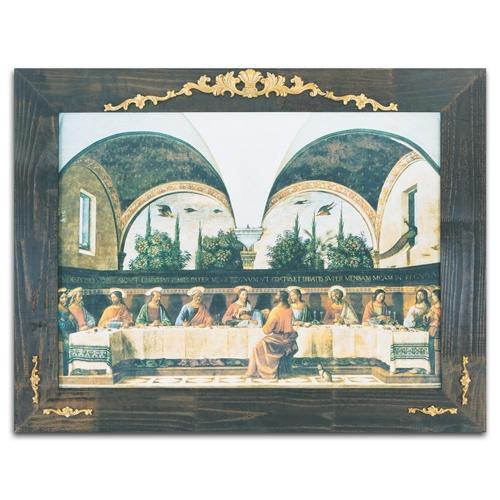 Quadro Decorativo L Ultima Cena em Madeira - 124x97 cm