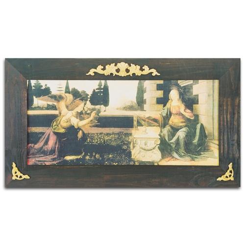 Quadro Decorativo La Annunciazione em Madeira - 127x70 cm