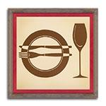 Quadro Decorativo La Cena - Elegance - em Madeira