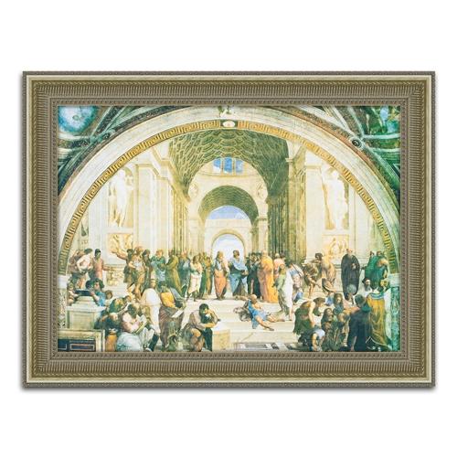 Quadro Decorativo La Scuela di Atena em Madeira - 120x92 cm