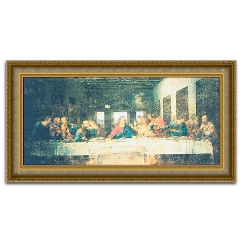 Quadro Decorativo La Ultima Cena - da Vinci - em Madeira - 123x66 cm