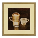 Quadro Decorativo Latte Macchiato e Expresso em Madeira
