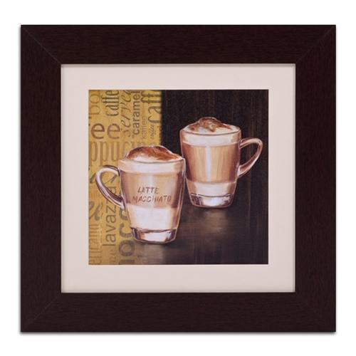 Quadro Decorativo Latte Macchiato em Madeira - 56x56 cm