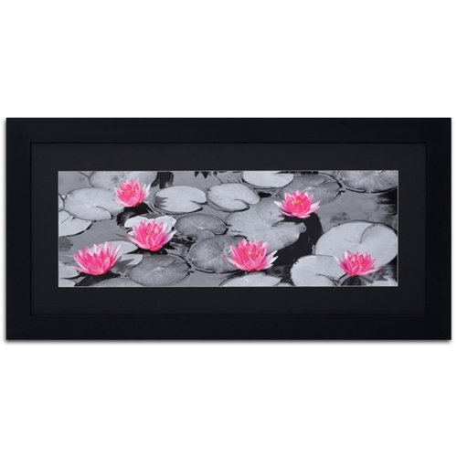Quadro Decorativo Lírio Rosa em Madeira - 129x64 cm