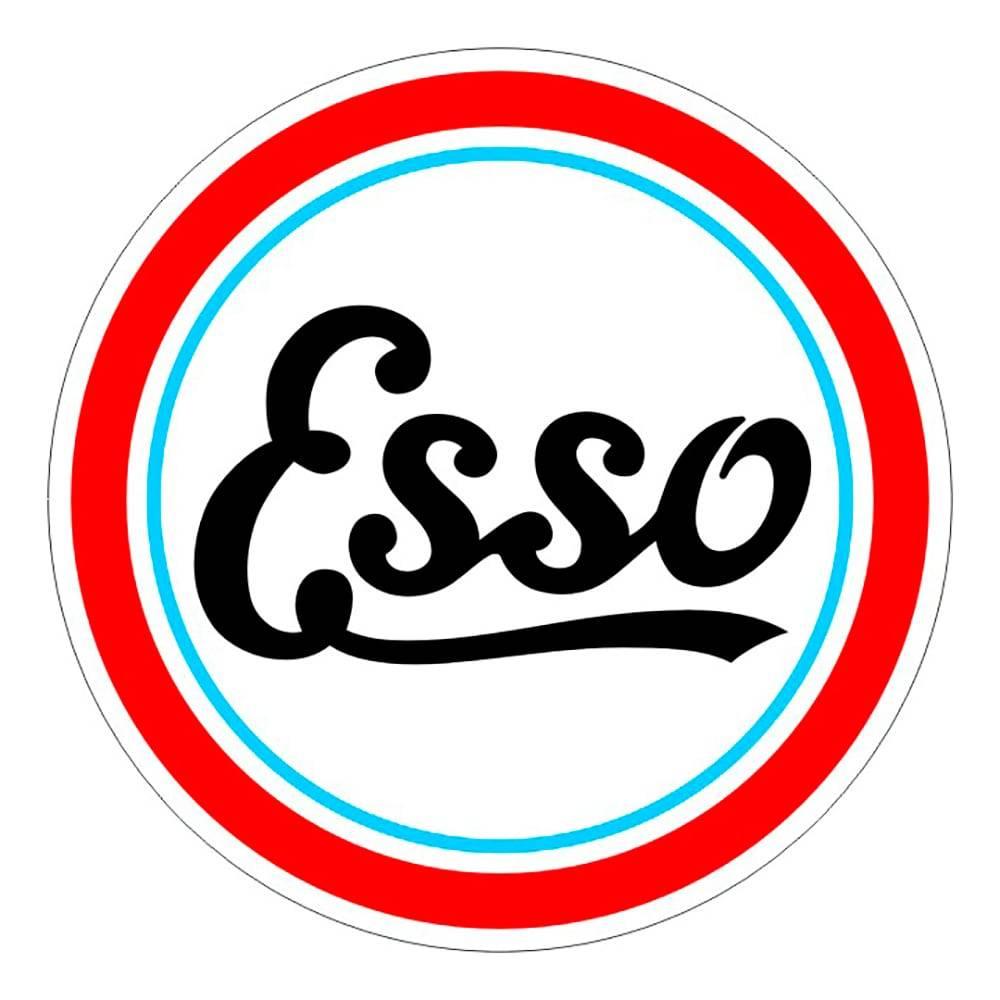 Quadro Decorativo Logomarca Esso Multicolorido em MDF - 40x40 cm
