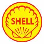 Quadro Decorativo Logomarca Shell 1955 Amarelo em MDF