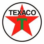 Quadro Decorativo Logomarca Texaco 1948 Multicolorido em MDF