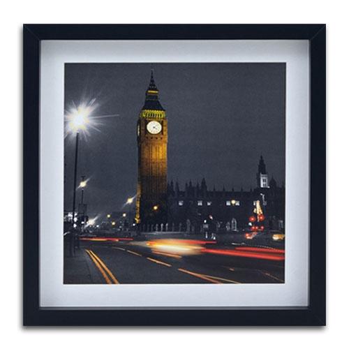 Quadro Decorativo London Big Ben em Madeira - 40x40 cm