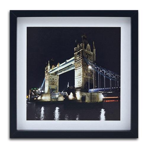 Quadro Decorativo London, Bridge em Madeira - 40x40 cm