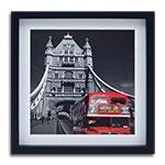 Quadro Decorativo London Red Bus em Madeira