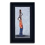 Quadro Decorativo Mulher Africana II em Madeira