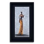 Quadro Decorativo Mulher Africana em Madeira