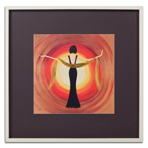 Quadro Decorativo Mulher Dançando em Madeira - 83x83 cm