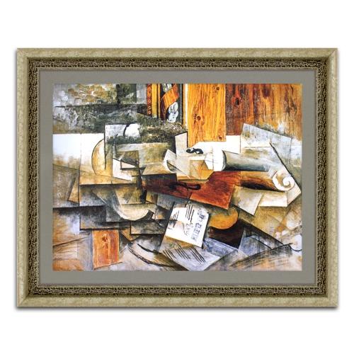 Quadro Decorativo Mulher com Violão em Madeira - 92x74 cm