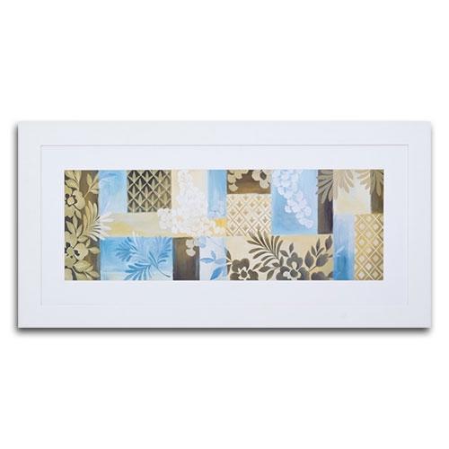 Quadro Decorativo Nature Quadriculado em Madeira - 127x62 cm
