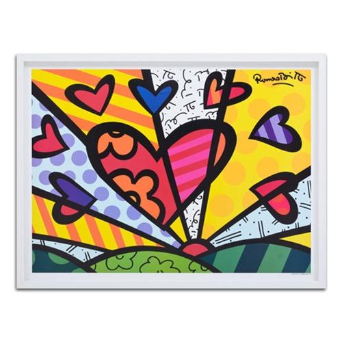 Quadro Decorativo A New Day em Madeira - 89x68 cm