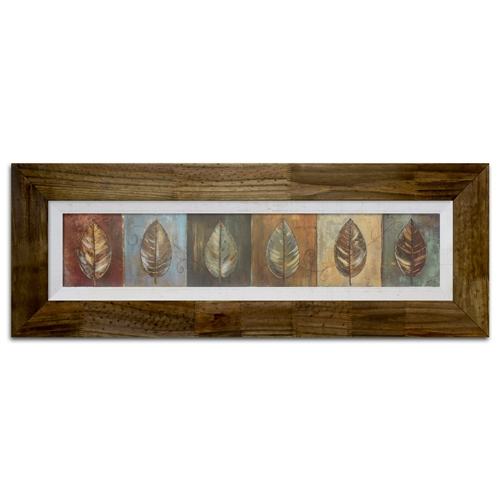 Quadro Decorativo New Leaf Panel em Madeira - 122x42 cm