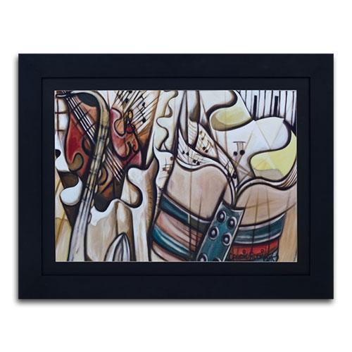 Quadro Decorativo Notas Musicais Abstrata em Madeira - 128x98 cm