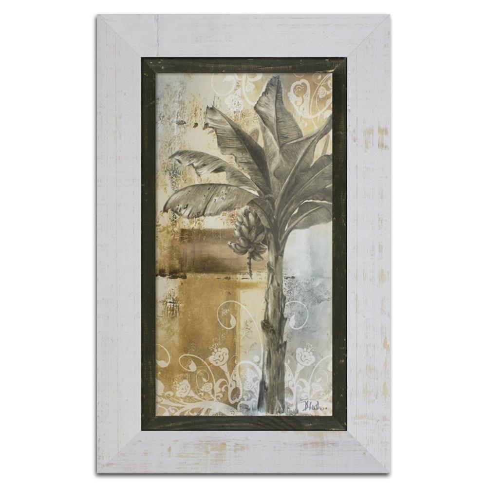 Quadro Decorativo Palm And Ornament II em Madeira - 83x53 cm