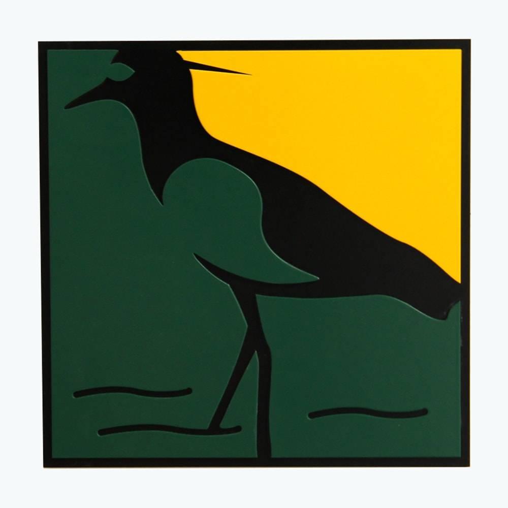 Quadro Decorativo Pássaro Quero Quero Multicolorido em MDF - 30x30 cm