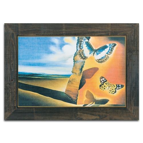 Quadro Decorativo Paysage Aux Papilons em Madeira - 130x92 cm