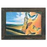 Quadro Decorativo Paysage Aux Papilons em Madeira
