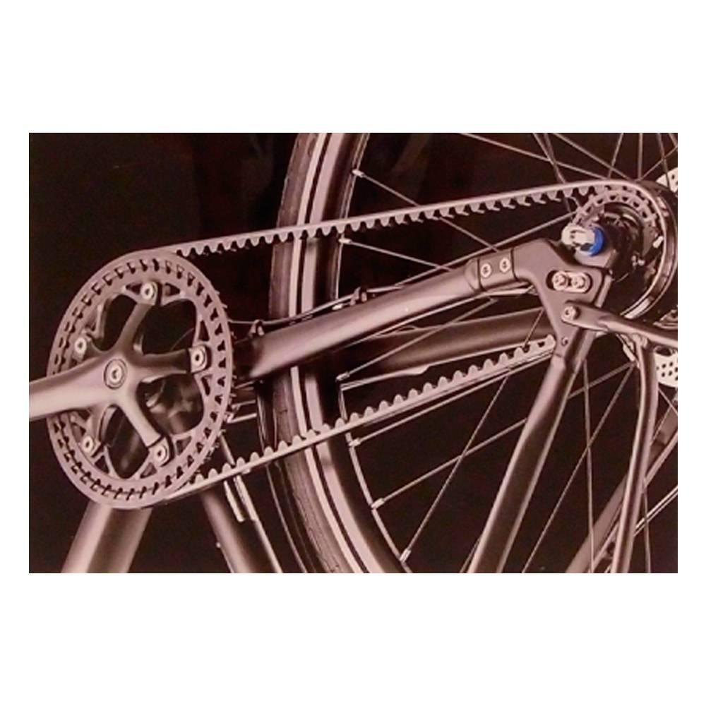 Quadro Decorativo Pedaleira de Bicicleta Preta em Vidro - 30x20 cm