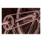 Quadro Decorativo Pedaleira de Bicicleta Preta em Vidro