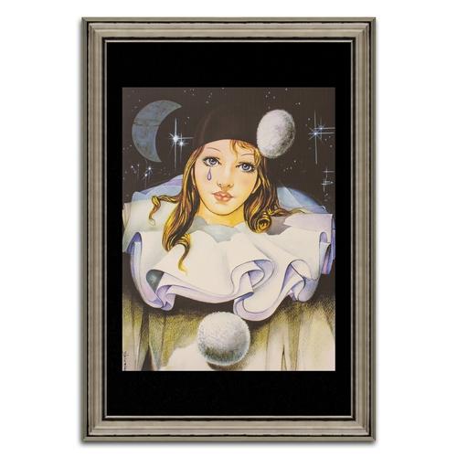 Quadro Decorativo Pierrô Ela em Madeira - 107x74 cm