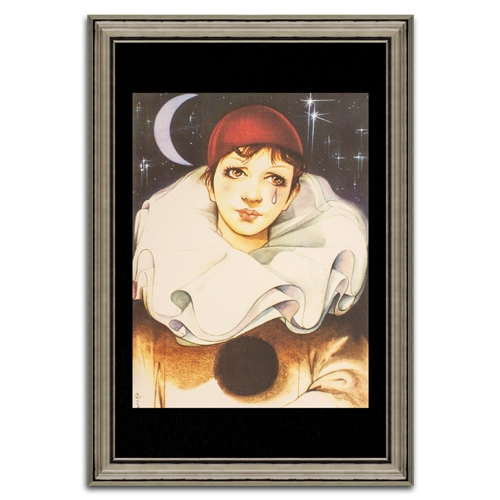 Quadro Decorativo Pierrô Ele em Madeira - 107x74 cm