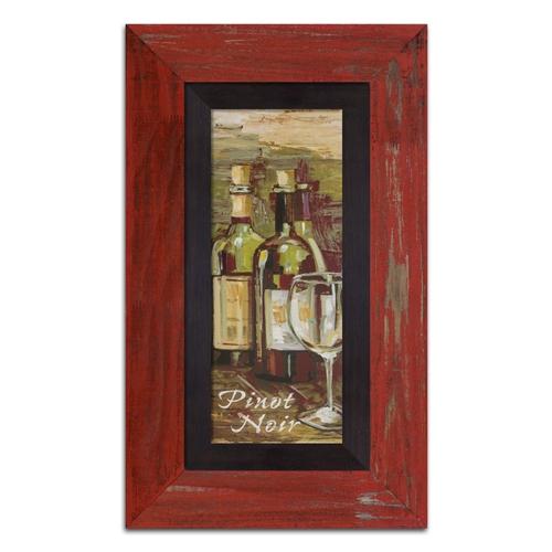 Quadro Decorativo Pinot Noir em Madeira - 73x43 cm