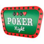 Quadro Decorativo Poker Night Verde em MDF - 40x26,2 cm