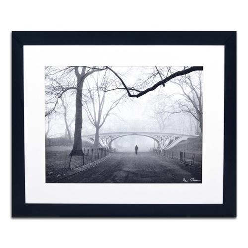 Quadro Decorativo Ponte Entre as Árvores em Madeira - 113x93 cm
