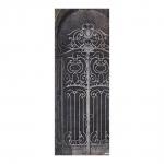 Quadro Decorativo Portão Preto e Branco em Madeira