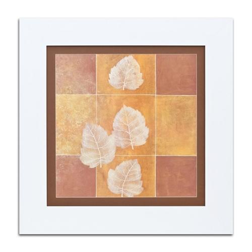 Quadro Decorativo Quatro Folhas em Madeira - 74x74 cm