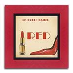 Quadro Decorativo Red Lipstick em Madeira