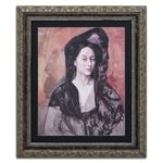 Quadro Decorativo Retrato de Bernadetta em Madeira