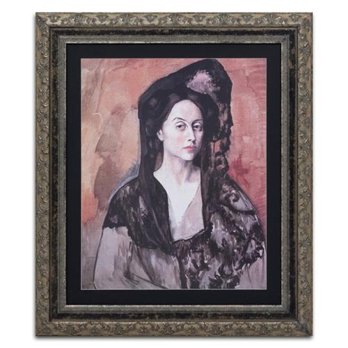 Quadro Decorativo Retrato de Bernadetta em Madeira - 92x79 cm
