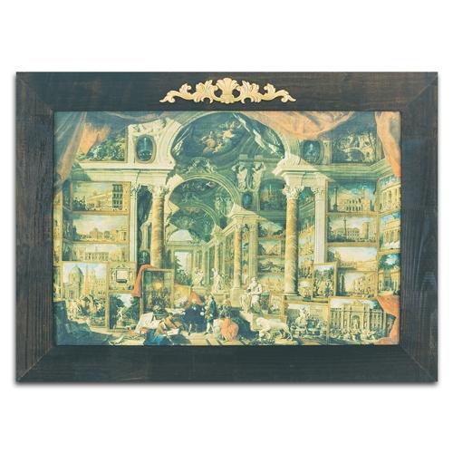 Quadro Decorativo Roma Moderna em Madeira - 125x92 cm